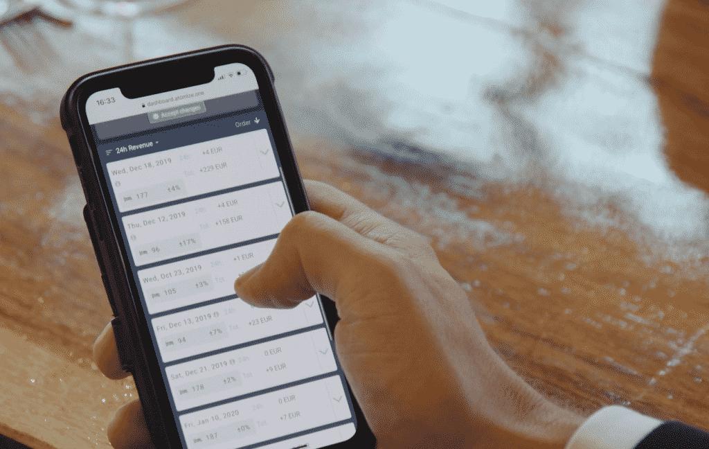 Atomize Mobile Dashboard