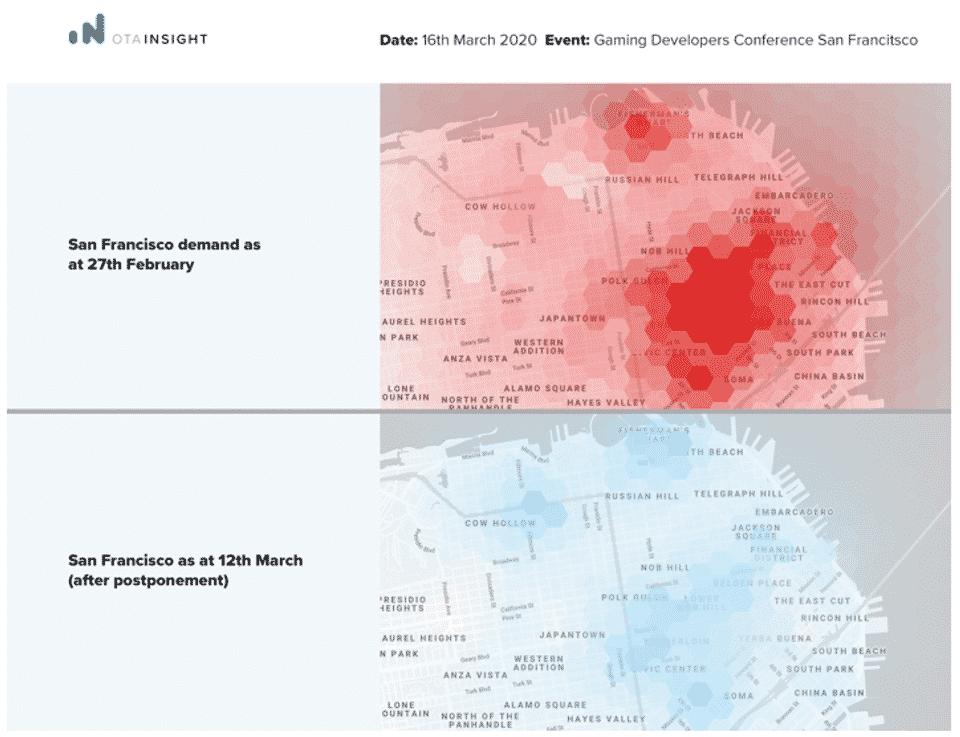 Heatmap vor und nach der Eventabsage