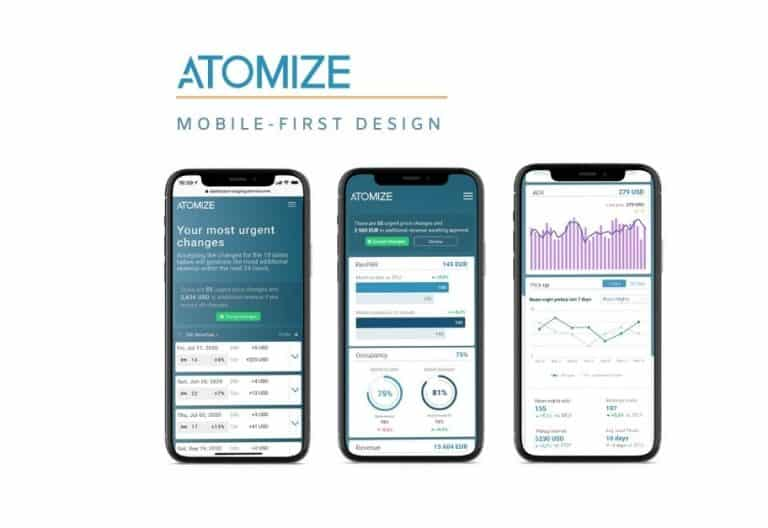 Mobile-first-design Revenue Management System von Atomize